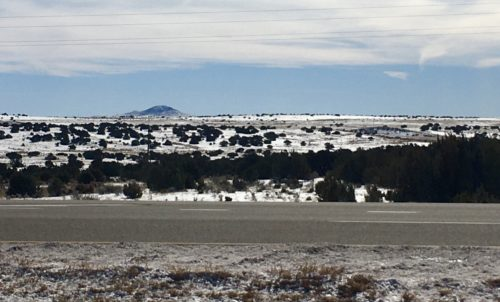 Homeschoolers homeschooling family adventure travel things to do with kids teens santa rosa moriarty new mexico desert snow interstate 40 i40 driving winter weather spgfan smiles per gallon