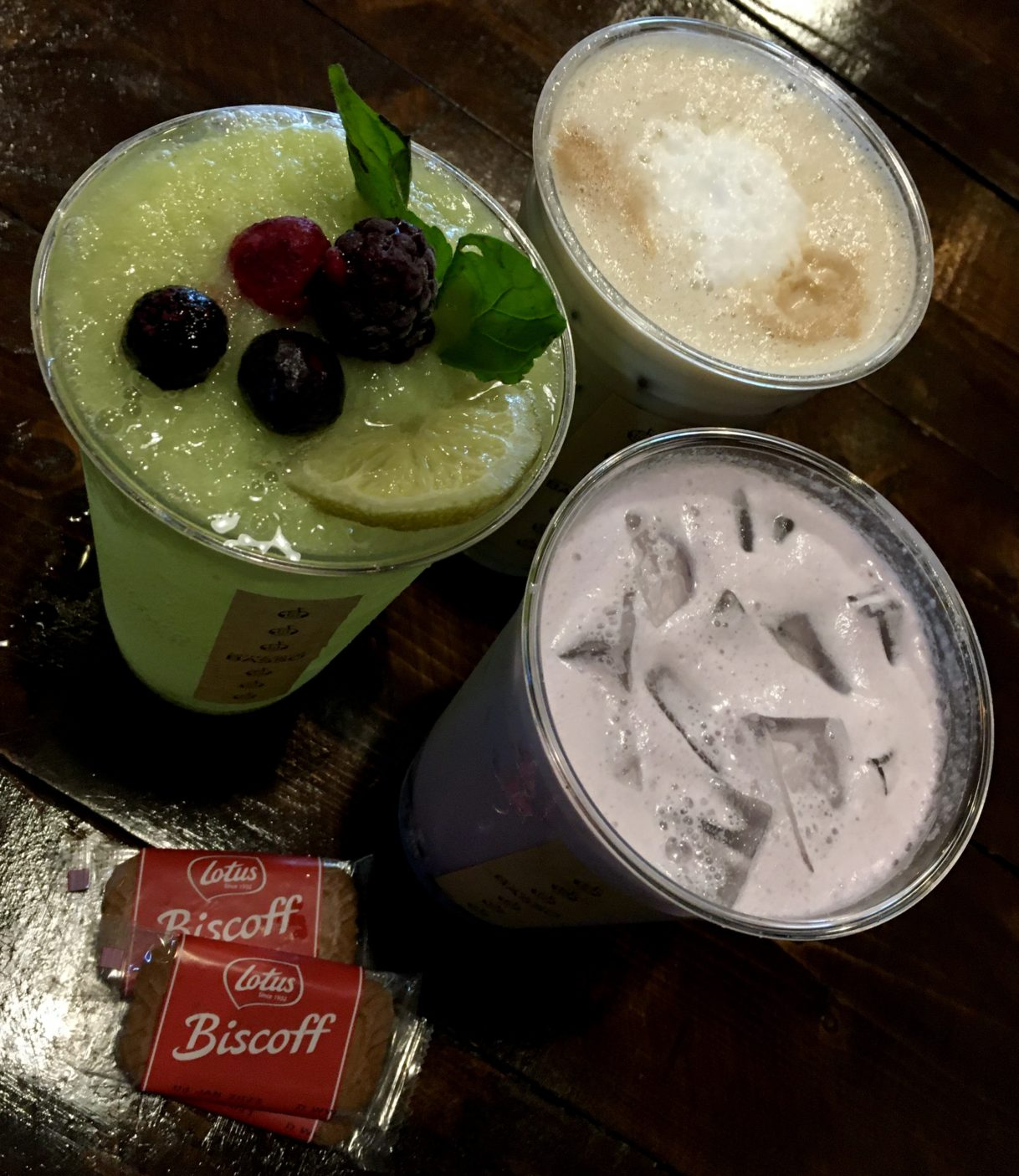 White Grape Mojito, Taro Milk Tea, and a Misugaru Latte at Coffee House Basso – Lawrenceville / Suwanee / Duluth, Georgia – 06/24/2020