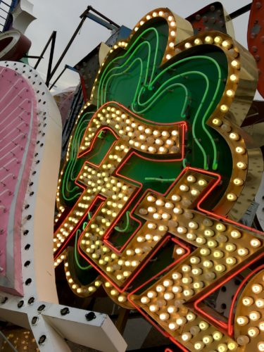 Homeschoolers homeschooling family travel adventure things to do with kids teens las vegas nevada nv the neon museum boneyard tim burton exhibit brilliant downtown fremont street nostalgic neon signs lights vegas history iconic entertainment las vegas boulevard vegas with kids spgfan smiles per gallon