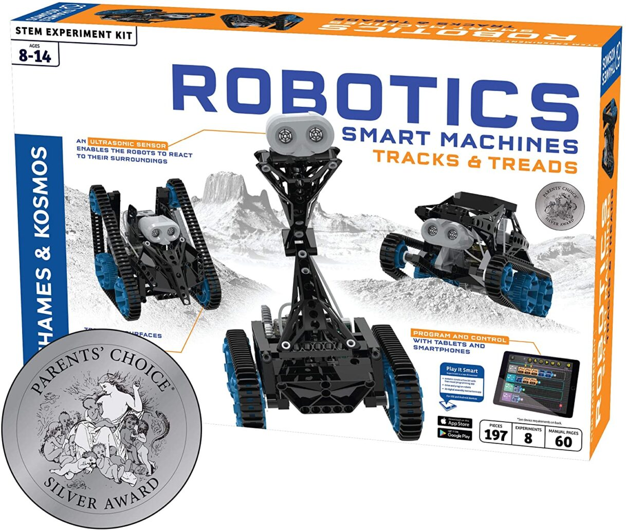 Robotics: Thames & Kosmos – Robotics Smart Machines – Tracks & Treads Kit – Builds 8 Different Robots!