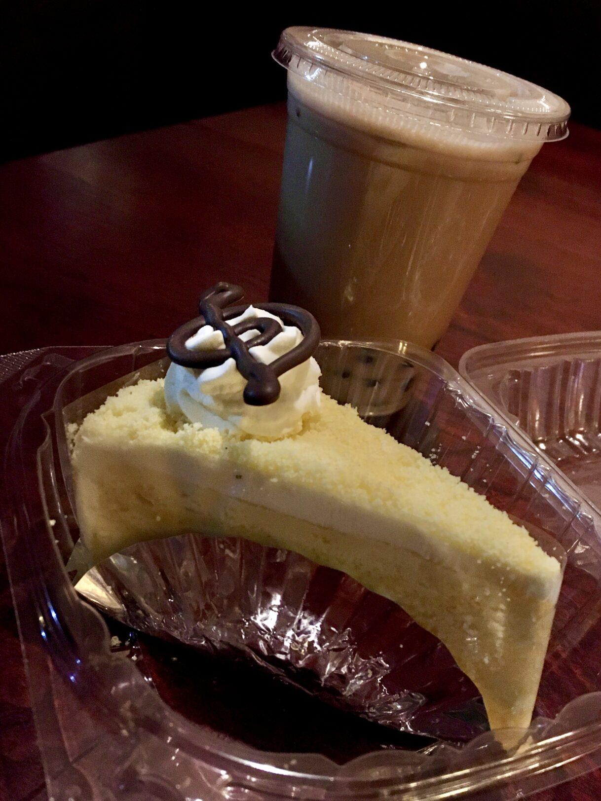 Rose Milk Tea and a Slice of Sweet Potato Cake from Cafe Mozart Bakery – Suwanee, Georgia 12/03/02020