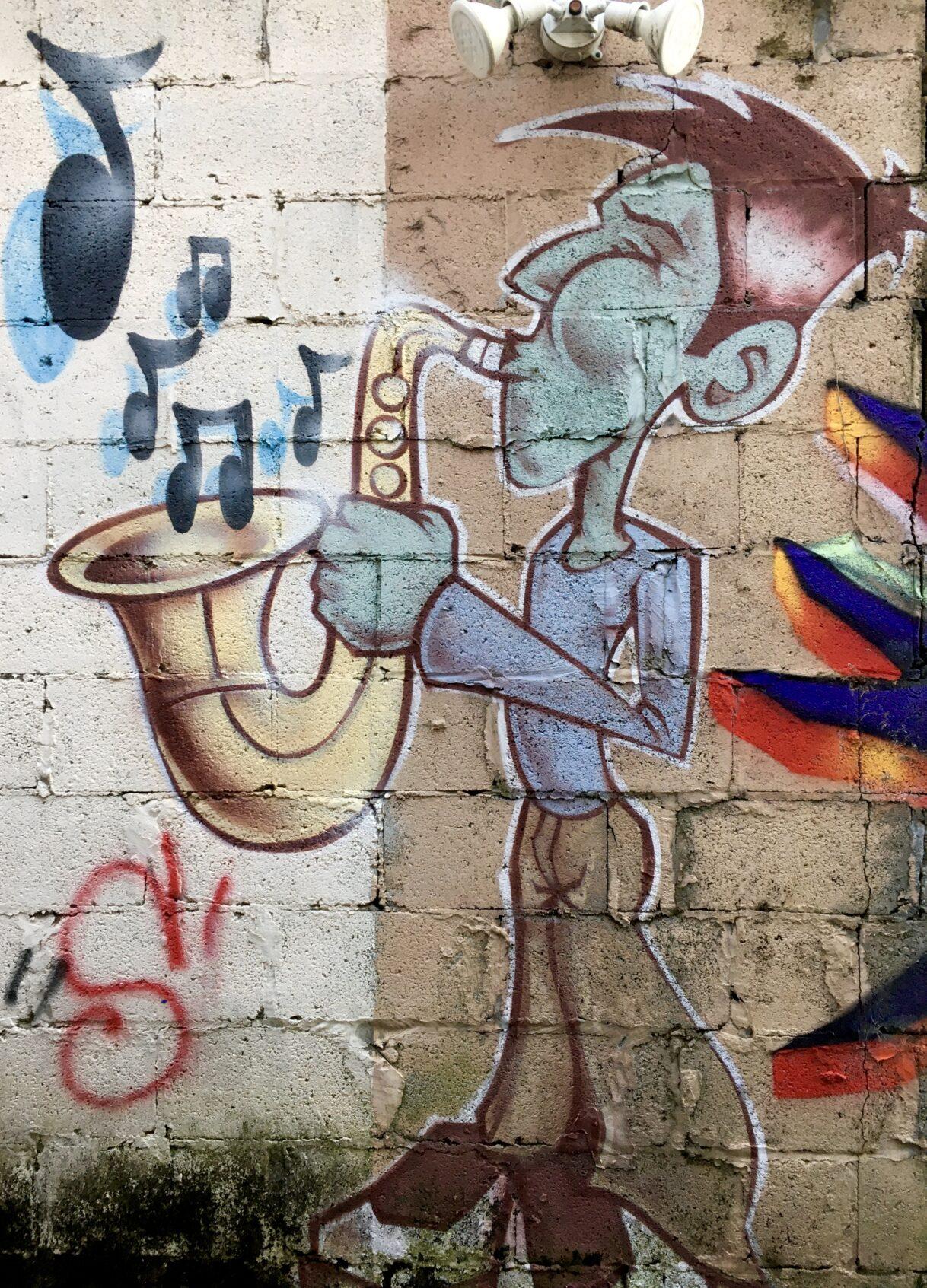 A Hidden Graffiti Alley in Belmont – Nashville, Tennessee – 01/26/2021