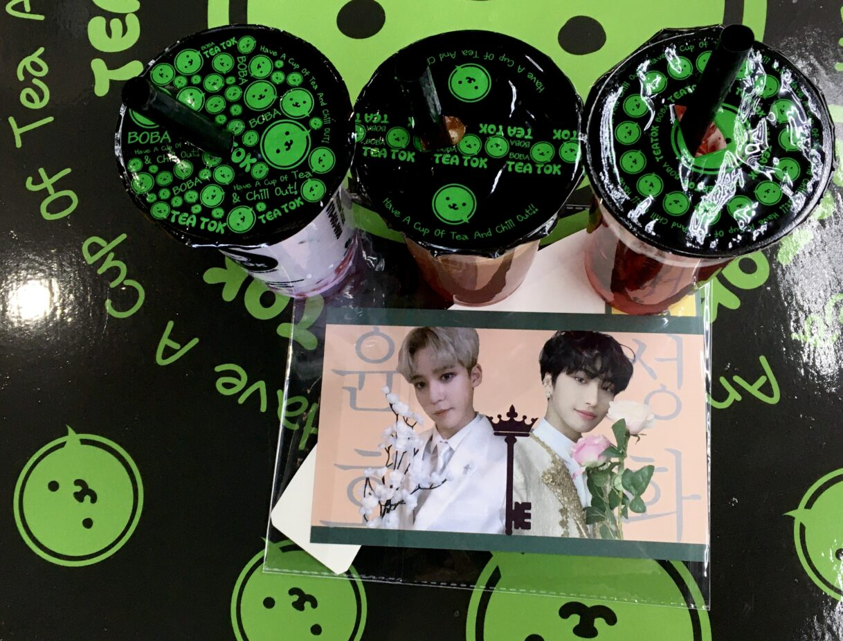 Happy Birthday Seonghwa and Yunho! K-Pop Group ATEEZ Birthday Cup Sleeve Event at Boba Tea Tok – Duluth, Georgia – 04/03/2021